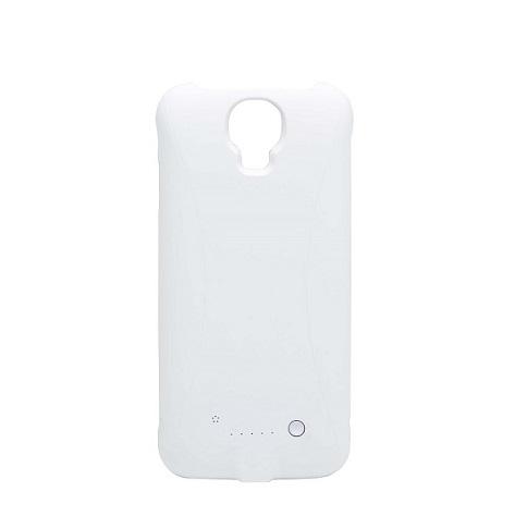 Тонкий чехол аккумулятор для Samsung Galaxy S4 white