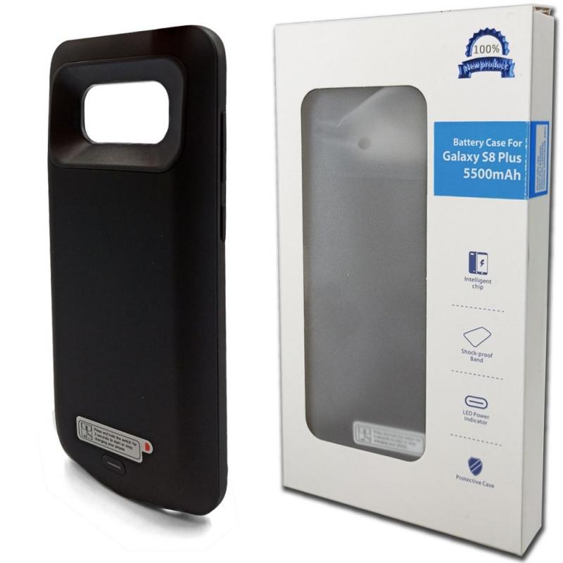 Чехол зарядка для Samsung S8+ 5500 mah black