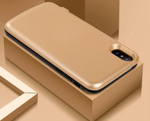 Чехол батарея для iPhone Х 6800 mah gold