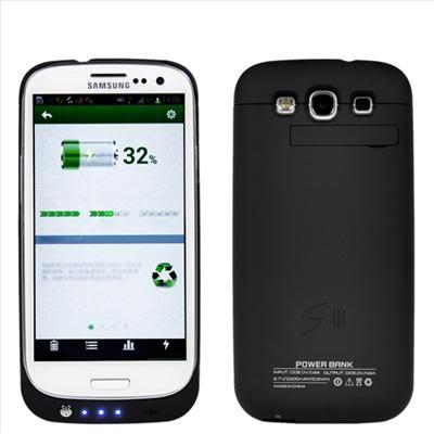 Чехол аккумулятор для Samsung Galaxy S3. powercase.black