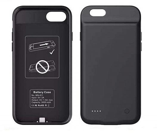 Чехол аккумулятор для iPhone 7+/6+/6S+/8+ 4000 mAh ProStrum black