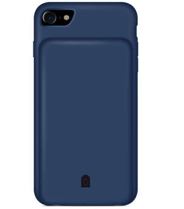 Чехол зарядка для iPhone 8 battery Case - 4500 mah blue