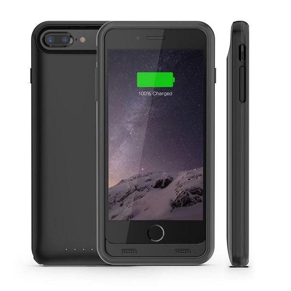 Чехол аккумулятор для iPhone 8 Plus iFans black 4000 mAh