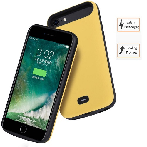 Чехол батарея для iPhone 6/7/8 - 5500mah Prostrum Yellow
