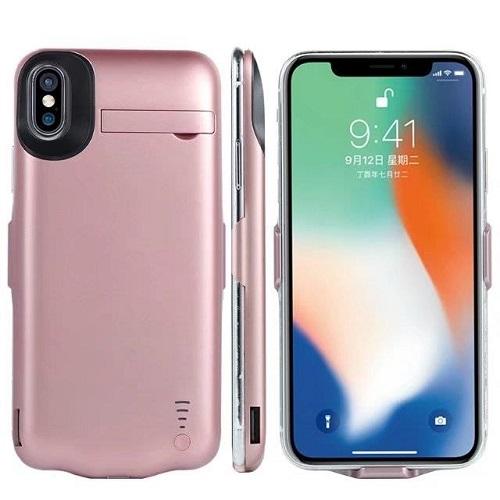 Чехол аккумулятор iPhone X | iPhone 10 -5000 mah roze gold