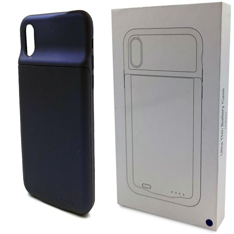 Чехол аккумулятор для  iPhone X 3600 mAh Blue