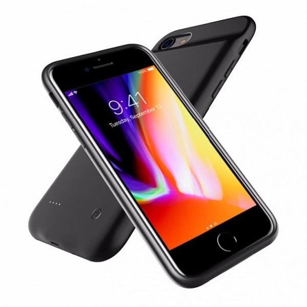 Чехол аккумулятор для iPhone 8+/7+/6+/6S+ 4000 mAh ProStrum black