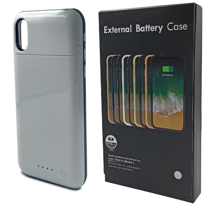 Чехол аккумулятор iPhone X 5200 mAh White