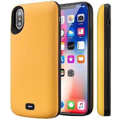 Чехол аккумулятор для iPhone X Battery Case 5000 mah Prostrum Yellow
