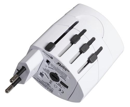 Сетевое ЗУ для мобильных телефонов/планшетов ProStrum World Adapter Pro белая