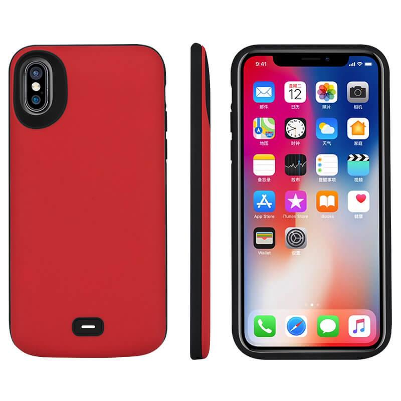 Чехол аккумулятор для iPhone X Battery Case 5000 mah Prostrum Red