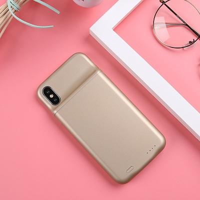 Чехол аккумулятор для Айфон 10 | iPhone X Lux battery case -3600 mah gold