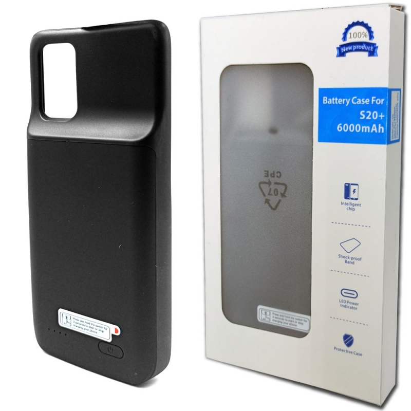 Чехол батарея для Samsung S20 Plus 6000 mAh