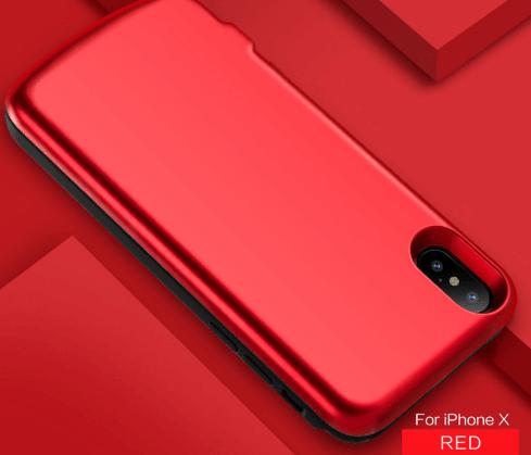 Чехол батарея для iPhone Х 6800 mah red
