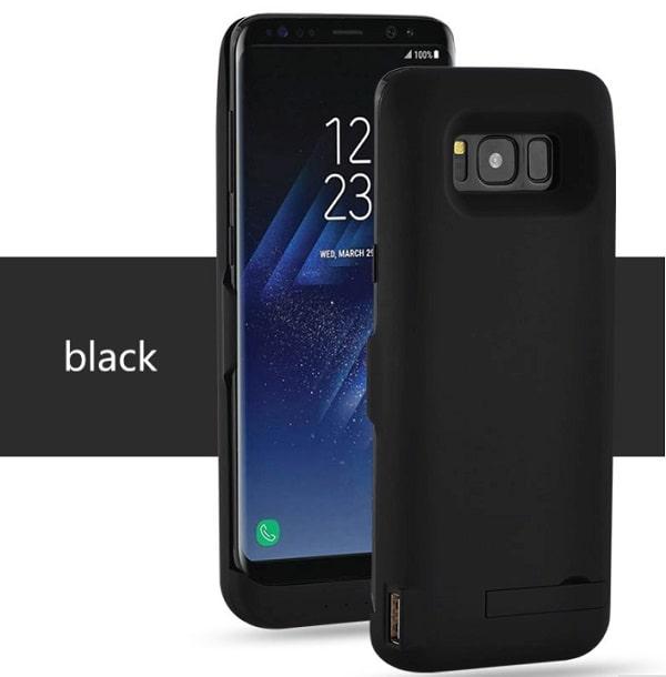 Чехол аккумулятор для Samsung S8 5500 mah Prostrum black