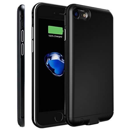 Чехол аккумулятор для iPhone 7 black (1500 mah) ProStrum Case