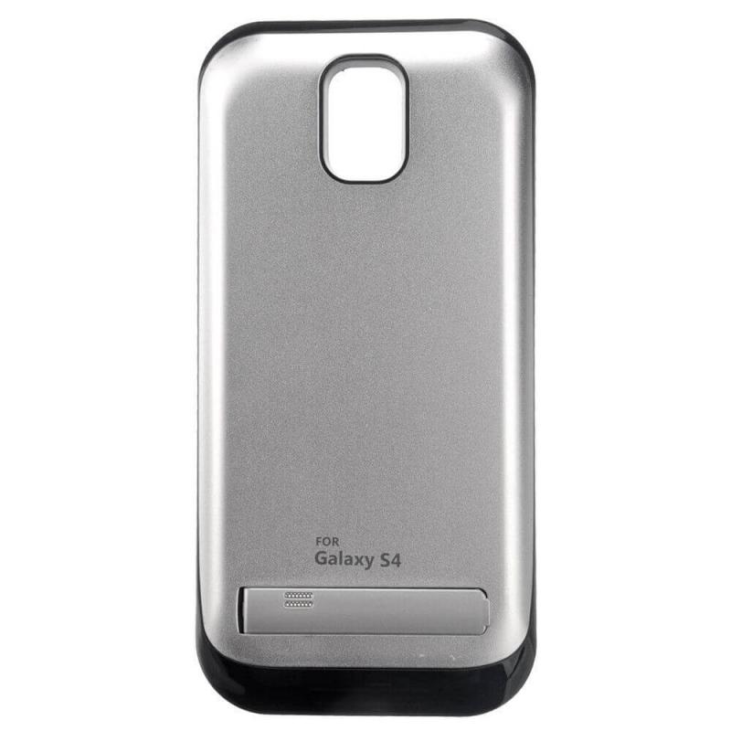 Чехол аккумулятор для Samsung Galaxy S4 silver-shining