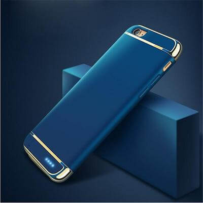 Чехол аккумулятор для iPhone 7 2500 mah Joyroom Battery case blue