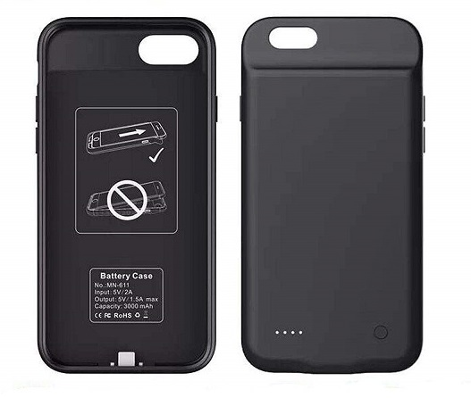 Чехол аккумулятор для iPhone 6+/6S+/7+/8+ 4000 mAh ProStrum black