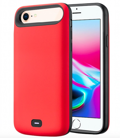 Чехол аккумулятор для iPhone 7/8/6 - 5500mah Prostrum Red