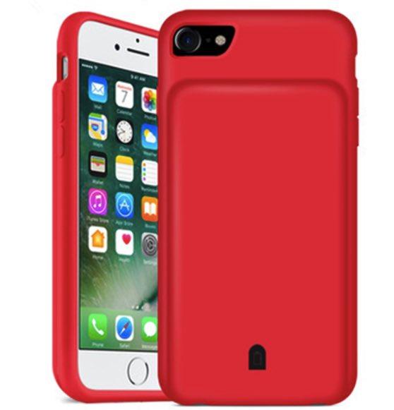 Чехол зарядка для iPhone 8 battery Case - 4500 mah red