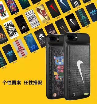 Чехол аккумулятор для iPhone 7 Nike 3800mah black