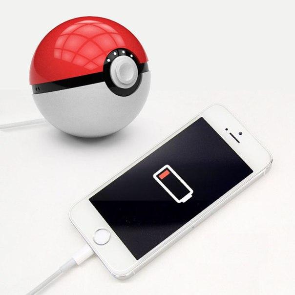 Power Bank Pokeball Go -10000 mAh внешний аккумулятор