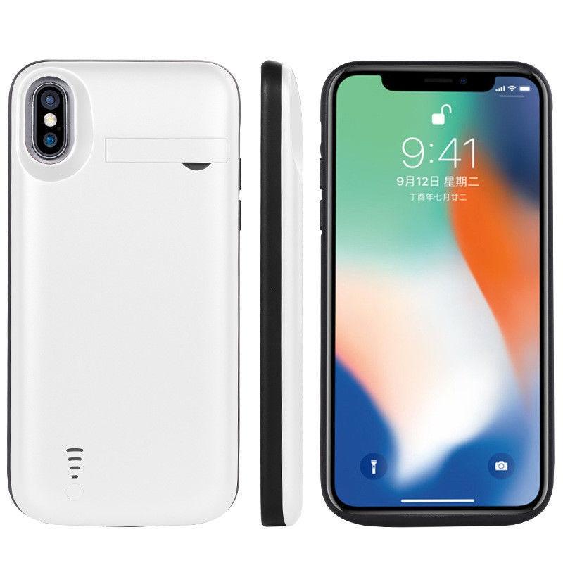 Чехол с зарядкой для iPhone X 5000mah white
