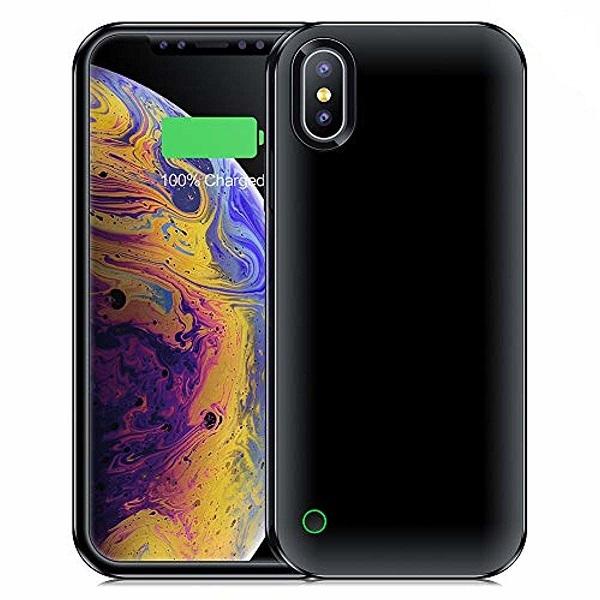 Чехол аккумулятор для iPhone XS Max 4500 mAh black