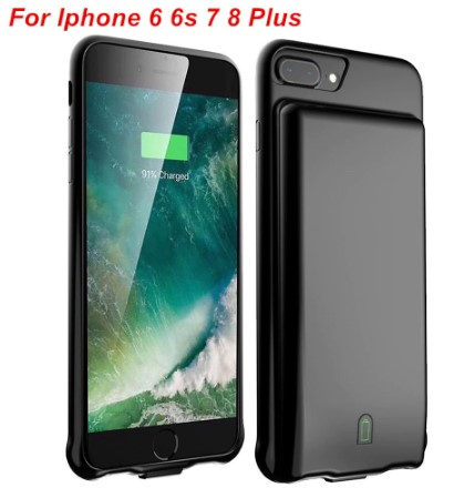 Чехол зарядка для iPhone 8 Plus battery Case - 7000 mah black