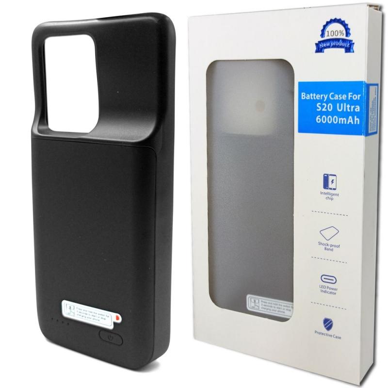 Чехол аккумулятор для Samsung S20 Ultra 6000 mAh Black