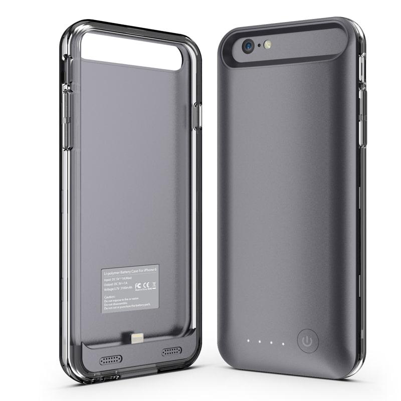 Чехол аккумулятор для iPhone 6/6S Plus iFans black 4000 mAh