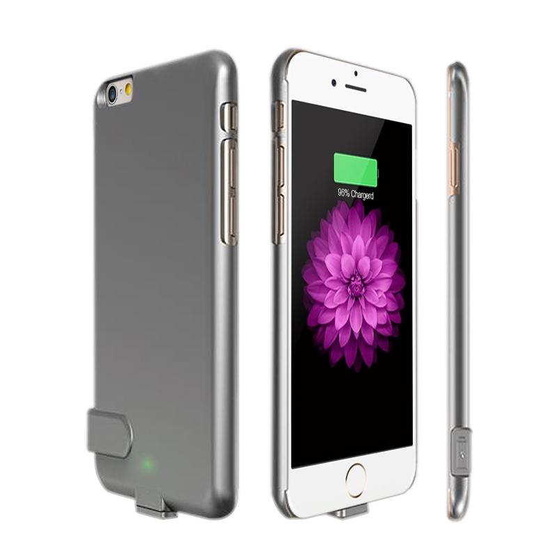Чехол аккумулятор для iPhone 7 grey (1500 mah) ProStrum Case