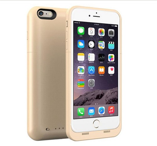 Чехол зарядное для iPhone 8 Charge Case 4.7 -4500 mah gold