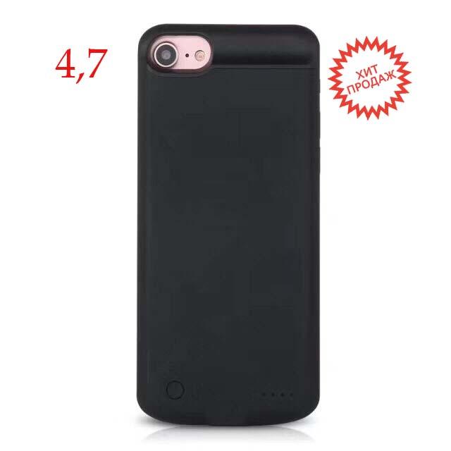 Чехол батарея для iPhone 7 Black 3800 mah