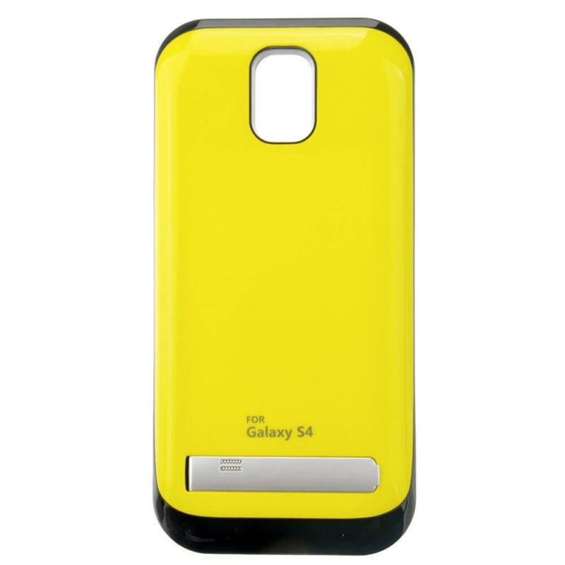Чехол аккумулятор для Samsung Galaxy S4. yellow