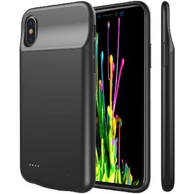 Чехол аккумулятор для Айфон 10 | iPhone X Lux battery case -3600 mah Black