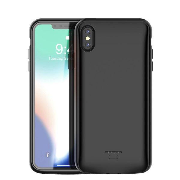 Чехол аккумулятор для iPhone XS max 5000 mah Black