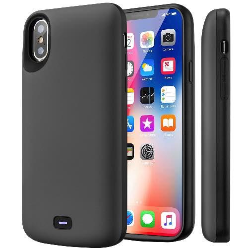 Чехол аккумулятор для iPhone X Battery Case 5000 mah Prostrum Grey
