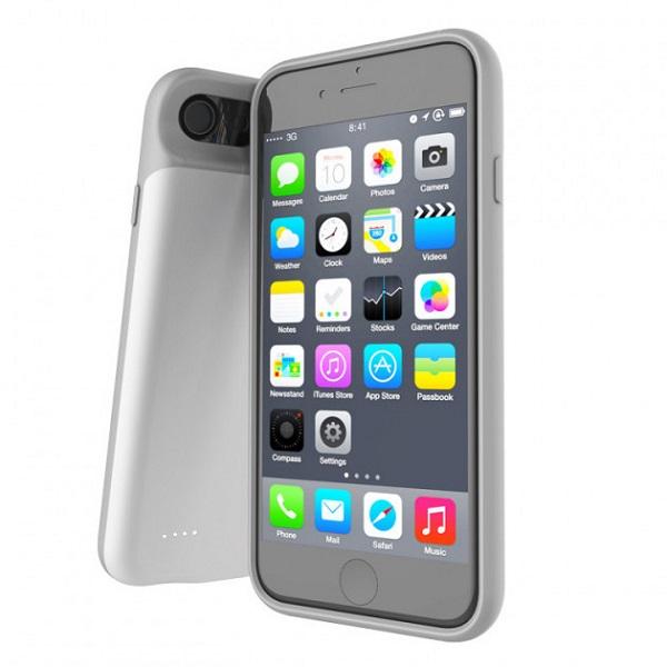 Чехол аккумулятор для iPhone 8+/7+/6+/6S+ 4000 mAh ProStrum white