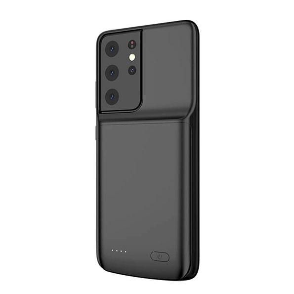 Чехол зарядка для Samsung S21 Ultra black 4700 mAh