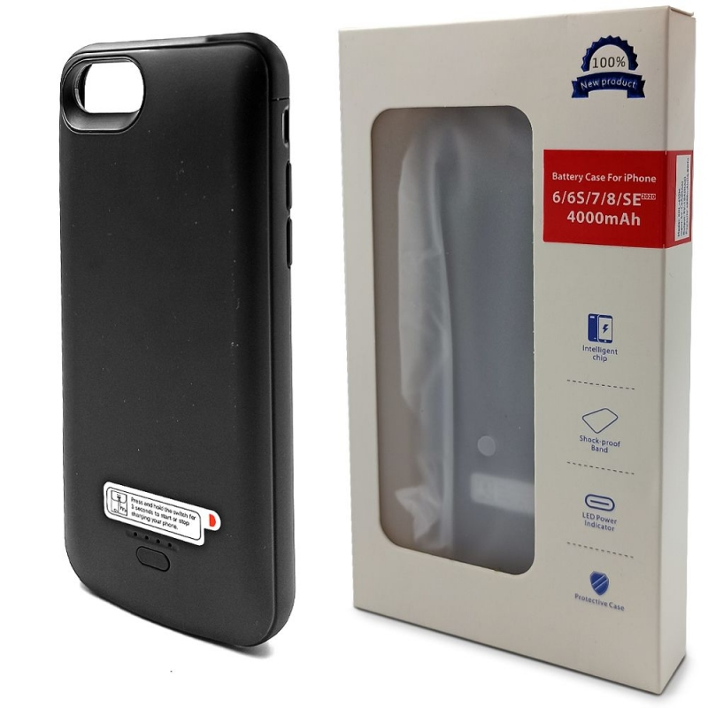 Чехол аккумулятор для iPhone 6/7/8 SE 4000 mAh