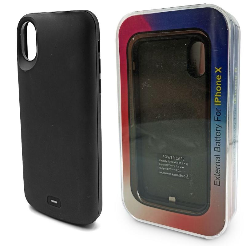 Чехол аккумулятор для iPhone X 5000 mAh Black