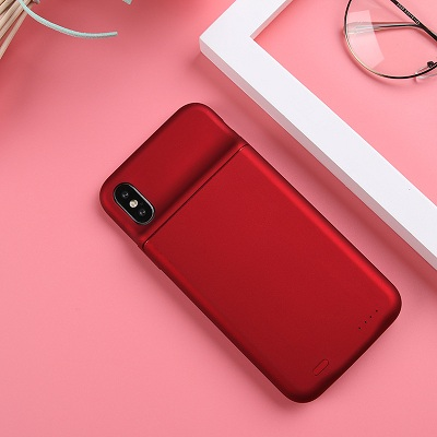 Чехол аккумулятор для Айфон 10 | iPhone X Lux battery case -3600 mah red