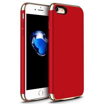 Чехол аккумулятор для iPhone 7 2500 mah Joyroom Battery case red