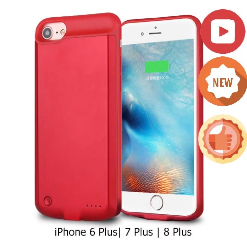 Чехол зарядка для iPhone 7 Plus Red 9000mAh