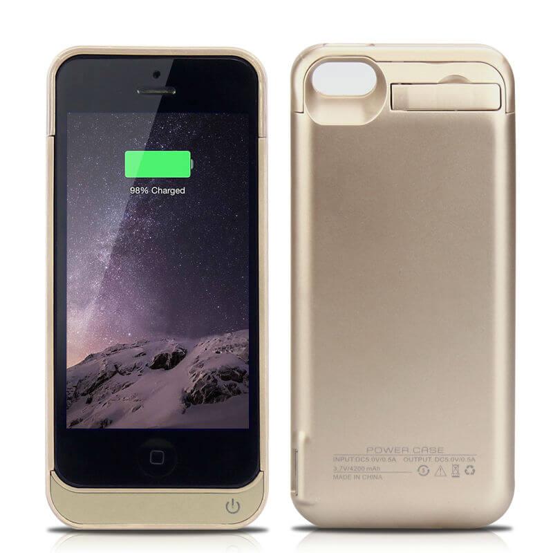 Чехол батарея для iPhone 5/5S/5C iPhone SE ProStrum Gold 4200mah